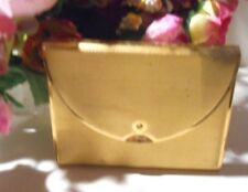 Vintage Coty envelope style powder compact with mirror & puff, circa 1940's