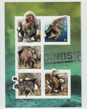 ca. DINOSAURS  OF CANADA 2015 Left Booklet Pane of 5, Holographic Foil EFFECT