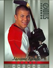 Jarome Iginla 1997-98 Donruss Studio '97 Portrait Calgary Flames #12 NM 8x10