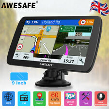 "Awesafe 9"" GPS Navigation for Lorry Car SAT NAV FREE UK+EU MAPS UK Shipment"