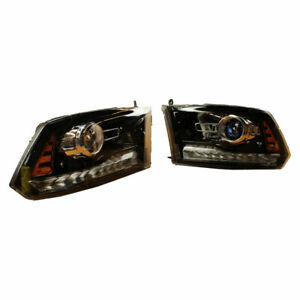 🔥 Mopar Set of Left and Right Black Projector Headlights for Dodge Ram 1500 🔥