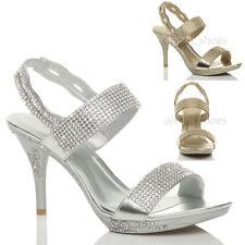Elegante Damen-Sandalen & -Badeschuhe mit Pump-Absatzart für Sehr hoher Absatz (Größer als 8 cm)
