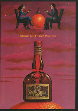 1983 GRAND MARNIER Liquor - Above All. Grand Marnier Retro 80's Art - VINTAGE AD