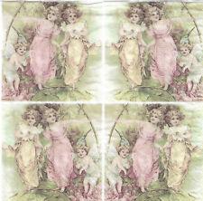 Lot de 2 Serviettes en papier Vignettes Muses Sagen Vintage Decoupage Collage