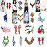 Lots Style DIY Embroidery Patches Sew On Iron Badge Applique Crafts Sticker Hot