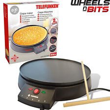 NEW 900W 30cm ELECTRIC PANCAKE CREPE MAKER NON STICK PLATE Creep UK  plug