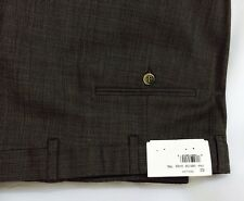 Size 52 R: NEW WT HICKEY BY HICKEY FREEMAN DRESS PANTS WORSTED WOOL BROWN / GRAY