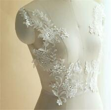 Guipure Bodice Ivory Embroidery Lace Applique DIY Bridal Wedding Dress 1 Pair
