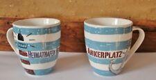 2 Kaffeebecher Heimathafen & Ankerplatz ca. 10 x Ø 10 cm Porzellan