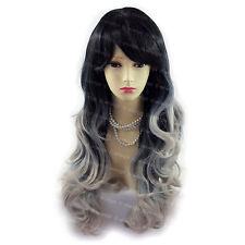 Wiwigs Hermoso Largo Ondulado Negro Marrón Rojo Azul Piel Top señoras pelucas