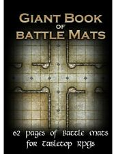 Giant Book Of Battle Mats Loke Wipe Clean Tabletop RPG Grid Map Book Roleplaying