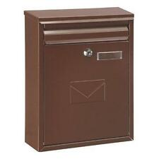 Como Steel Mail Post Box LetterBox Postbox  Brown - FREE NEXT DAY DELIVERY