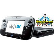 Black Wii U 32GB Deluxe + Nintendo Land - FACTORY REFURBISHED BY NINTENDO