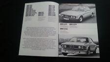 Orig. BMW 3,0 CSL CSi CS S 3,3 2800 2002 turbo Cabrio touring Prospekt Brochure