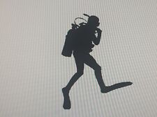 Scuba Diver Diving Vinyl Decal Sticker MANY Colors Available