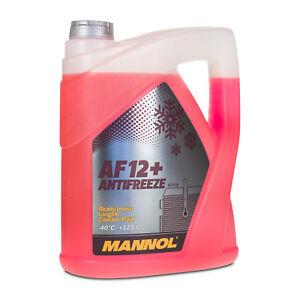 5 (1x5) Liter MANNOL Antifreeze AF12+ Frostschutz Fertiggemisch rot (-40°C)