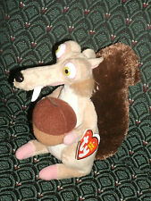 Ty Beanie Baby - SCRAT the Sabertooth Squirrel (Ice Age Movie) ~ MINT TAGS ~RARE