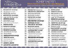 Buchstaben Zahlen Wandtattoo Name Wunschtext 60xSchriftarten Aufkleber Sticker