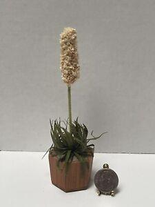 VTG Artisan KARIN 80s Southwestern Potted Yucca Plant Dollhouse Miniature 1:12