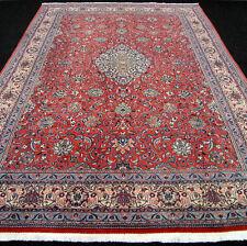 Orient Teppich Rot 354 x 248 cm Beige Perserteppich Medaillon Floral Carpet Rug