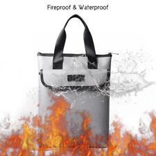 Fireproof Bag Safe Waterproof Fire Resistant Money Box Holder Folder Storage