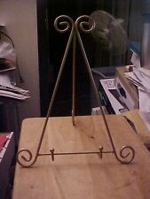 14 1/2 Inch Tall Gold A Frame Scroll Easel Display Stand