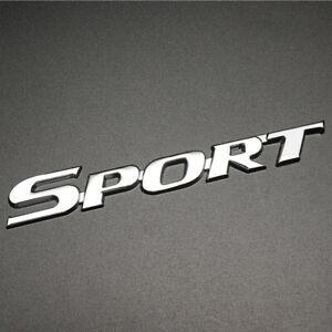 3D SPORT Racing Logo Sticker Car Body Fender Door Emblem Badge Metal Trim Decal