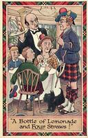 1950 VINTAGE COMIC STINGY SCOTSMAN WANTS SHARE 1 DRINK with FOUR PEOPLE POSTCARD