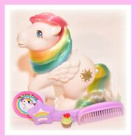 ❤️My Little Pony G1 Vtg Rainbow Ponies STARSHINE Pegasus & Original Brush Comb❤️