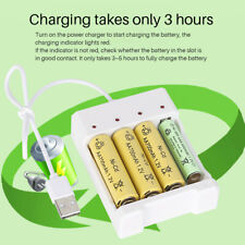 USB 4 Slots Fast AA AAA Battery Charger No. 5 7 Rechargeable Battery Station