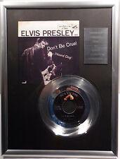 "ELVIS PRESLEY - Don't be Cruel 7"" Platin Schallplatte RCA Record ( goldene )"