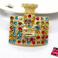 Johnson Charm Brooch Pin Gifts Colorful Bling Women's Perfume Crystal Betsey