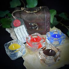 ELEMENT OFFERING BOWLS & CHEST & Candles  Wicca Altar Earth Air Fire Water Gift