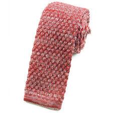 CRAVATE en tricot rouge chiné pour homme - Red Necktie cravatte