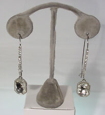 SILVER HANGING EARRING WITH CUBIC ZIRCONIAS #E22 #210-A/2