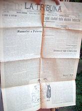 1924 GIORNALE DI ROMA 'LA TRIBUNA' ELEZIONI TEDESCHE, MUSSOLINI A PALERMO...