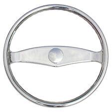 """Ongaro Marine Boat Steering Wheel 316 Cast Stainless Steel 13.5"""" diameter"""
