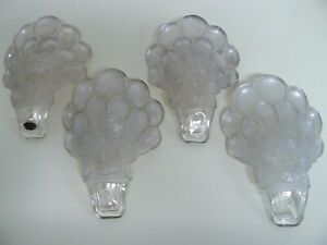 SET 4 CONSOLIDATED ART GLASS ART DECO MARTELE SLIP SHADES CHANDELIER SCONCE