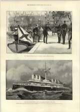 1893 Marina italiana buque de guerra más grande del mundo y moral Avellan Toulon