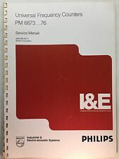 PHILIPS PM 6673...76 Universal Frequency Counters Service Manual 9499-465-00111