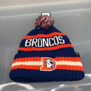 Denver Broncos 47 Brand Winter Hat. New NWT Blue Beanie Cap. NFL Football