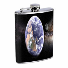 Earth Em1 Flask 8oz Stainless Steel Hip Drinking Whiskey