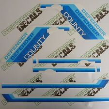 LAND ROVER DEFENDER 110 County Blue Colors 1990-1992 DECAL Stripes Sticker SET