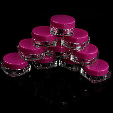 Best 10Pcs Cosmetic Empty Jar Pot Eyeshadow Makeup Face Cream Lip Balm Container