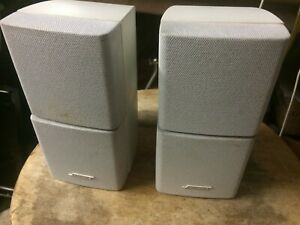 PAIR OF WHITE BOSE Double Cube Speakers Lifestyle Acoustimass