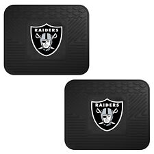NFL Oakland Raiders Car Truck 2 Back Utility All Weather Rubber Floor Mats