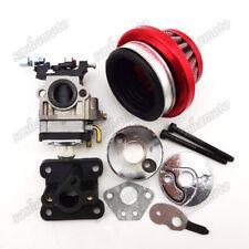 Racing Carburetor Kit Carb Air Filter Stack 47cc 49cc Mini ATV Pocket Dirt Bike