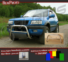 VAUXHALL FRONTERA B 98-04 LOW BULL BAR WITHOUT AXLE BARS +GRATIS! / OPEL
