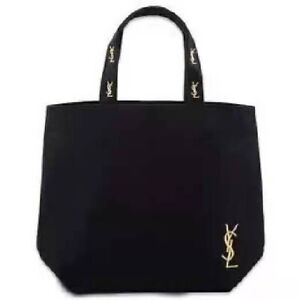 YSL Yves Saint Laurent Black Canvas Vip Gift Parfums Tote Shopping Bag