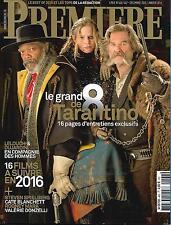 PREMIERE Nº466 DEC. 2015-JANVIER 2016 TARANTINO/ SPIELBERG/ DUJARDIN/ KARYO/MARA